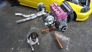 Assembling a 1000Hp Twin Turbo Honda Engine!
