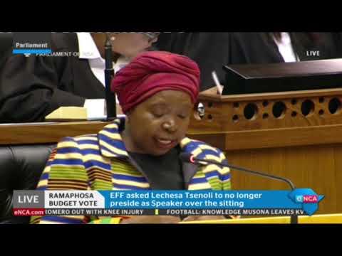 Dlamini Zuma responds to Presidency budget vote speech