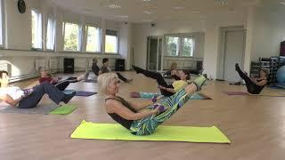 Pilates mit Hanteln,  Pilates with Weights.