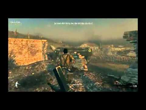 Game 100% Tiếng Việt tái hiện lại những trận chiến hào hùng của nước ta vô cùng xunh động. Chơi game ta như nhập vai vào những người lính thời chiến.