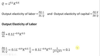 Cobb-Douglas Production: Output Elasticity Of Labor And Capital