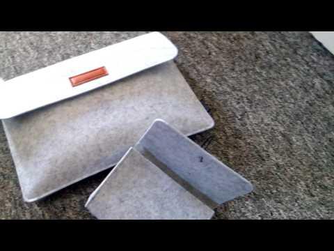 12 Zoll Laptop Sleeve Hülle Tragetasche Filz mit Mini Beutel DODOCOOL