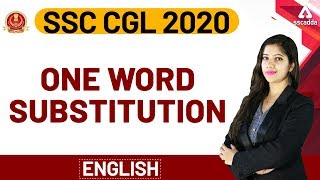 SSC CGL 2019-20 | English For SSC CGL | One Word Substitution