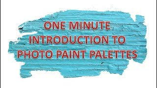 One Minute Introduction to Photo Paint Palettes