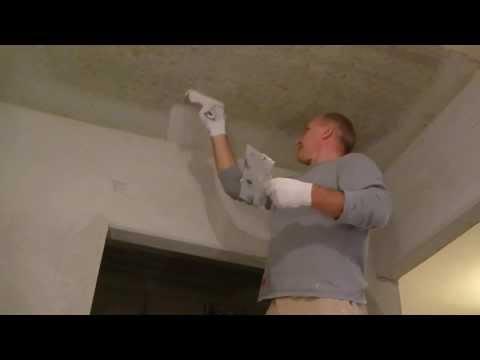 Как шпаклевать потолок, ремонт своими руками
