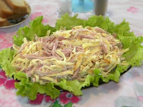 Салат с омлетом - быстро, вкусно, сытно.