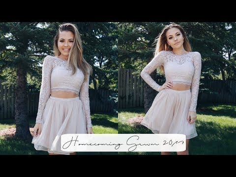HOMECOMING GRWM 2017 + DRESS LOOKBOOK