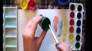 Что лучше и чем отличается краски акварель и гуашь - Видео онлайн