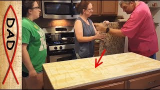 Install a granite island counter top - CAUTION!