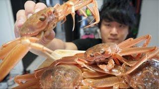 大量のせいこ蟹を豪快にそのままいただきます!!
