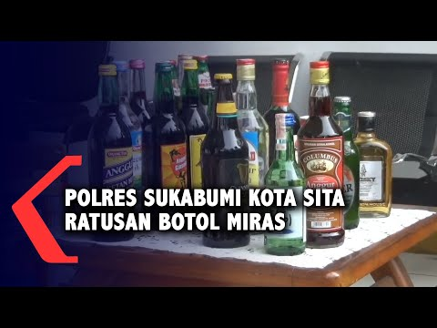 Polisi Sita Ratusan Miras Berbagai Merek Di Sukabumi
