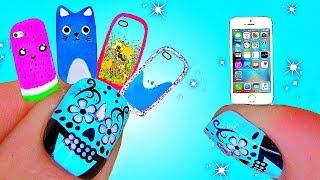 DIY Миниатюрные ЖИДКИЕ ЧЕХЛЫ + ТЕЛЕФОН / ЧЕХЛЫ / Miniature Phone Cases + iPHONE