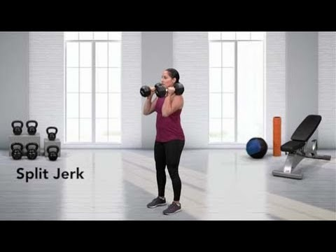 Dumbbell Split Jerk