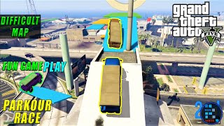 GTA V | Difficult Truck Parkour Race With RON