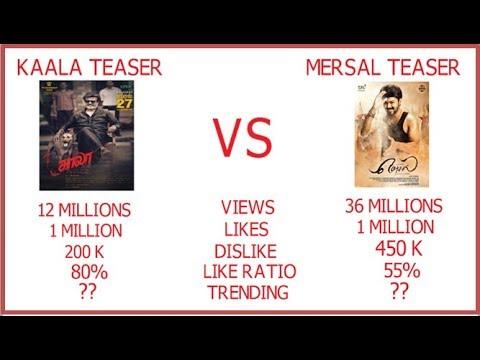 kaala official teaser vs mersal official teaser rajinikanth