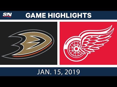 NHL Highlights | Ducks vs. Red Wings - Jan. 15, 2019