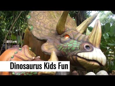 Video Petualangan Taman Dinosaurus Kids Fun Parcs - Naik Kereta - Wisata Anak Jogjakarta - Tori Airin