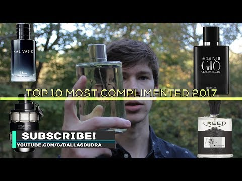 Top 10 Most Complimented Men's Fragrances 2017
