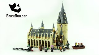Lego Harry Potter 75954 Hogwarts Great Hall - Lego Speed Build