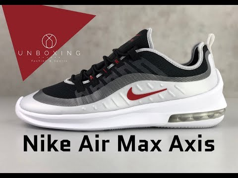 Nike Air Max Axis 'Black/Sport-red mtlc platinum' | UNBOXING & ON FEET | fashion shoes | 2019