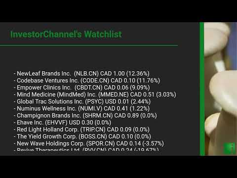 InvestorChannel's Psychedelics Watchlist Update for Friday ... Thumbnail