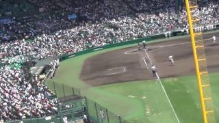黙祷終戦記念日夏の高校野球2015年8月15日正午終戦の日花咲徳栄vs鶴岡東甲子園Silentprayer