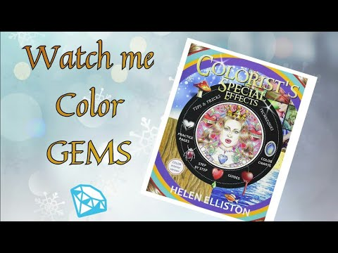 How To Color Gems Backgrounds With Wax Pastels