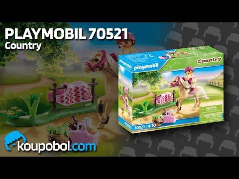 Vidéo PLAYMOBIL Country 70521 : Cavalière avec poney beige
