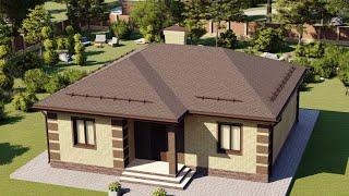 Проект дома 091-А, Площадь дома: 91 м2, Размер дома:  11,4х12,4 м
