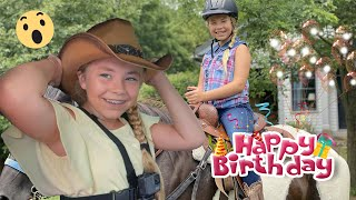 SURPRISE!!! Horseback Riding For Peytons 12th Birthday- The Detty Sisters