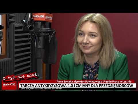 Wideo1: Anna Szyszka, dyrektor PUP w Lesznie o zmianach dla przedsiębiorców w tarczy antykryzysowej 4.0