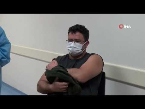 Alanya'da ilk aşı sağlıkçılara vuruldu