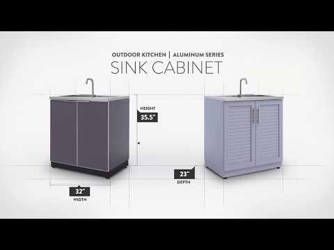 NewAge Aluminum Sink Cabinet