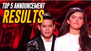RESULTS PART 1: The TOP 5 America's Got Talent Champions Announcement