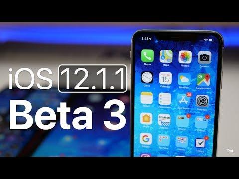 iOS 12.1.1 Beta 3 - What's New?