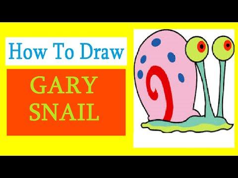 How to Draw a Gary Snail / Как нарисовать улитку Гэри