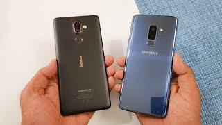 Nokia 7 Plus vs Samsung S9+ Speed Test | Mid Range vs Flagship !