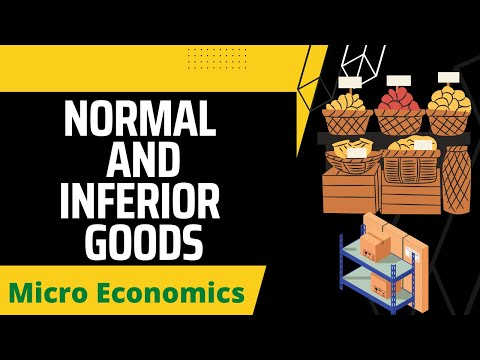 Normal Goods and Inferior Goods -(class 12) Microeconomics