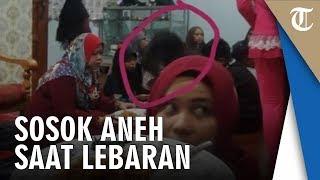 Foto saat Halalbihalal di Rumah Saudara, Wanita Kaget Ada Sosok Berambut Acak-acakan di Belakangnya