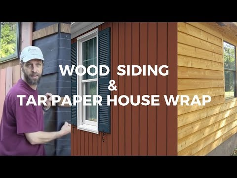 Make your wood siding last 100 years! Verticle Siding, Drainage Plane, and Tar Paper house wrap