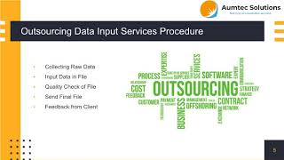 Outsource Data Input And Processing Services