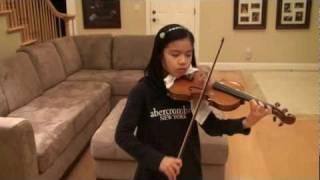 "Jocelyn age 10 violin - Por Una Cabeza. Tango from ""Scent of a Woman""."