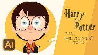 Harry Potter Flat Design Avatar | Illustrator Cc 2018