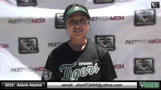 2022 Alexis Abalos Speedy Slapper and Middle Infield Softball Skills Video - Ohana Tigers