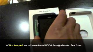 How to Unlock HTC Raider & Vivid 4G LTE by HTC Sim Unlocking Code At&t, Rogers, Bell - No Rooting!