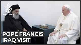 Pope Francis meets Iraq's Shia leader al-Sistani