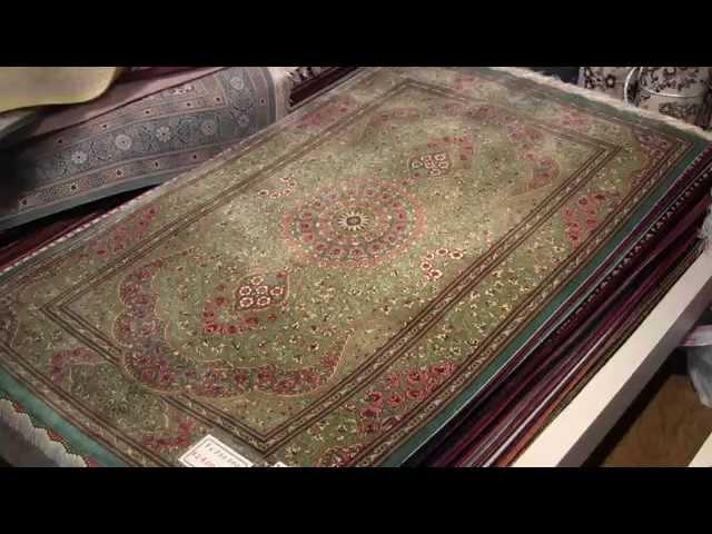 高級シルク絨毯ペルシャ、サイズ120x80の玄関サイズ、クムシルク100%
