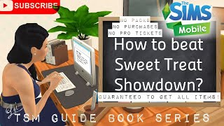 How to beat Sweet Treat Showdown? | The Sims Mobile | Guide Book Chapter 1