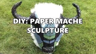 DIY SCULPTURE   CHICKEN WIRE AND PAPER MACHE