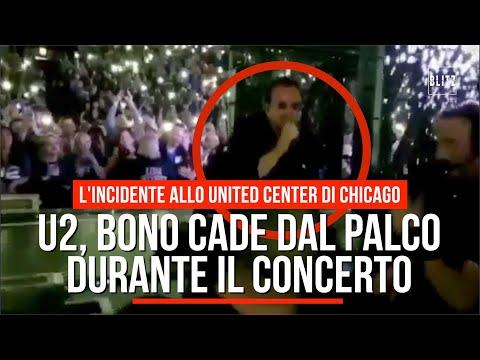 Bono Vox, rovinosa caduta dal palco durante un concerto (VIDEO)